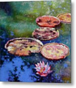 Fall Colors On The Pond Metal Print