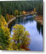 Fall Colors On The River Metal Print