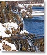 Fall Creek Falls In Winter Metal Print