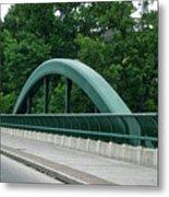 Fall Creek Gorge Bridge Cornell University Ithaca New York Metal Print