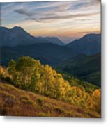 Fall Evening In American Fork Canyon Metal Print
