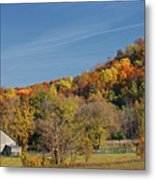 Fall Farmyard Metal Print