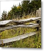 Fall Fencing Metal Print