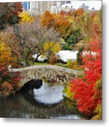 Fall Foliage In Central Park Metal Print