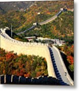 Fall Foliage At The Great Wall Metal Print