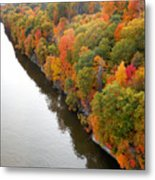 Fall Foliage In Hudson River 10 Metal Print