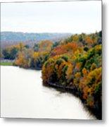 Fall Foliage In Hudson River 13 Metal Print