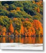 Fall Foliage In Hudson River 14 Metal Print