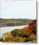 Fall Foliage In Hudson River 5 Metal Print