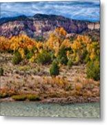 Fall Foliage Near Ghost Ranch Metal Print