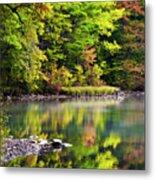 Fall Foliage Reflection Metal Print