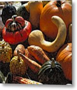 Fall Fruit And Vegetables  Metal Print