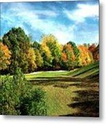Fall Golf Course Beauty Metal Print