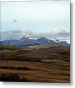 Fall Hills Rolling Towards The Mountains Metal Print