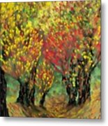 Fall Impression Metal Print