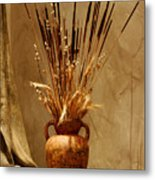 Fall In A Vase Still-life Metal Print by Christine Till