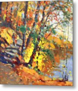 Fall In Bear Mountain Metal Print