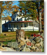 Fall In Connecticut Metal Print