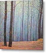 Fall In Forest Metal Print