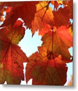 Fall In Love With Autum Metal Print