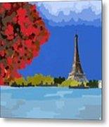 Fall In Paris Metal Print