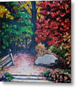 Fall In Quebec Canada Metal Print by Karin  Dawn Kelshall- Best