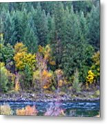Fall In Spokane Metal Print