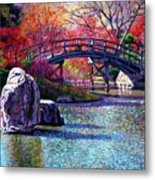 Fall In The Garden Metal Print