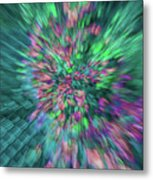 Fall Leaf Zoom Abstract Metal Print
