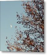 Fall Moon Metal Print