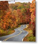 Fall Mountain Road Metal Print