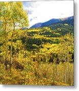 Fall Mountain Scenery Metal Print