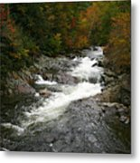 Fall Mountain Stream Metal Print