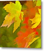 Fall Of Leaf Metal Print