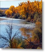 Fall On Animas River Metal Print