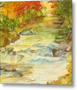 Fall On East Fork River Metal Print
