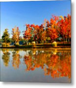 Fall On Lake Metal Print