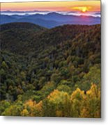 Fall On The Blue Ridge Parkway. Metal Print by Itai Minovitz