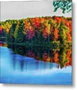 Fall On The Lake In Wisconsin Metal Print