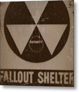 Fall Out Shelter Metal Print