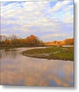 Fall Picture Of The Stream Metal Print