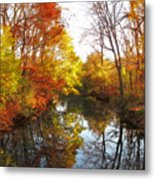 Fall Reflected Metal Print