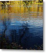 Fall Reflection At The River 2 Metal Print