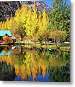 Fall Reflections At The Double Eagle Metal Print