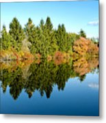 Fall Reflections II Metal Print