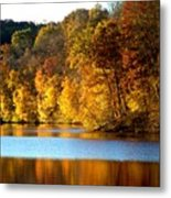 Fall Reflections Of Indiana Metal Print