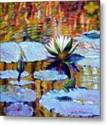 Fall Ripples Metal Print