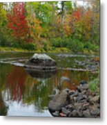 Fall River Reflection Metal Print