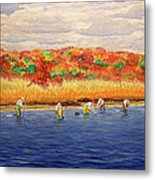 Fall Shellfishing In New England Metal Print