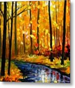 Fall Stream Metal Print